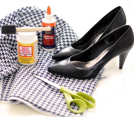 como forrar zapatos